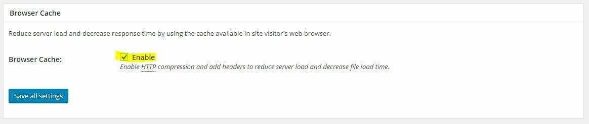 W3 Total Cache Browser Cache Ayarları