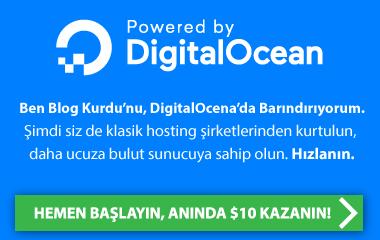 Digital Ocean Kaydol