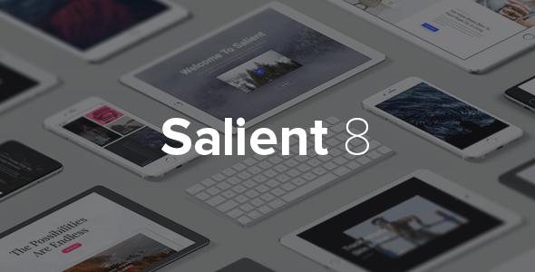 Salient  wordpress teması