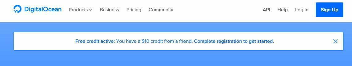 Digitaolcean 10 dolar kazandınız uyarısı