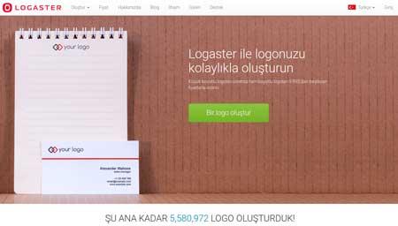 Logaster ücretsiz logo servisi