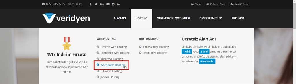 Blog nasıl açılır? Blog açma: WordPress hosting paketleri sayfası
