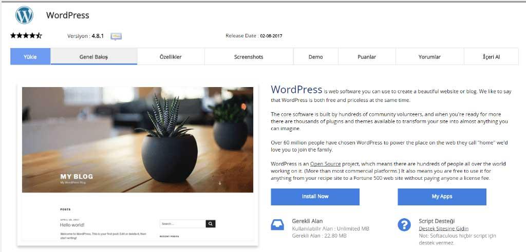 Blog nasıl açılır? WordPress kurulumu