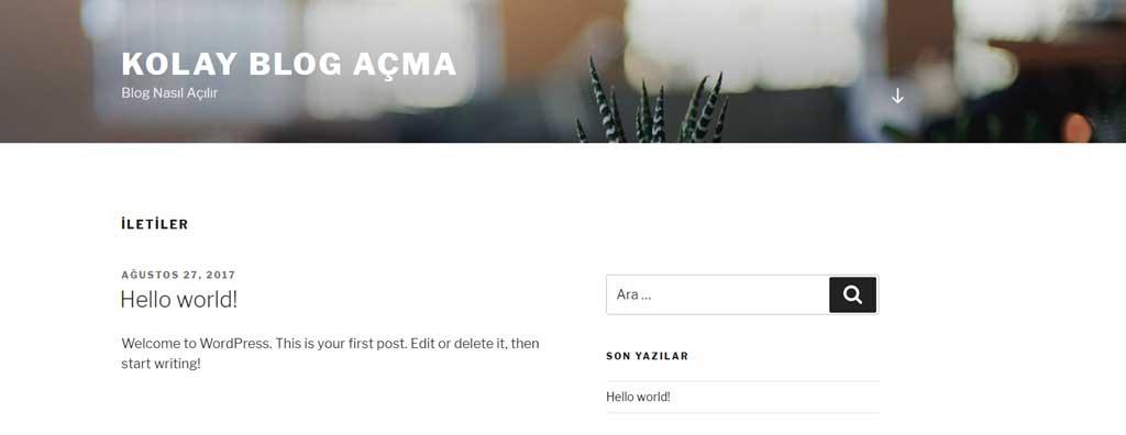 Blog nasıl açılır? Merhaba dünya yazısı