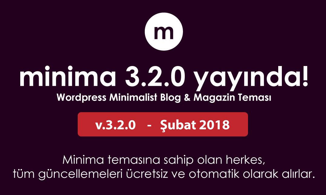 Minima Wordpress blog teması