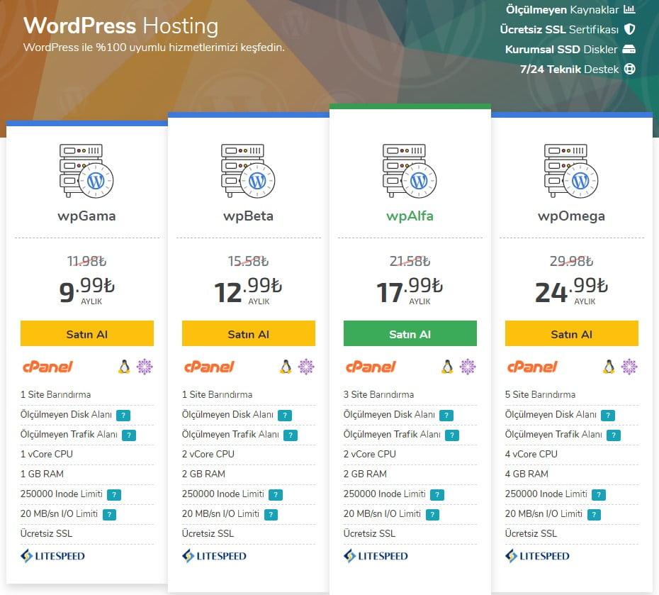 Blog nasıl açılır? Hosting paketi seçimi