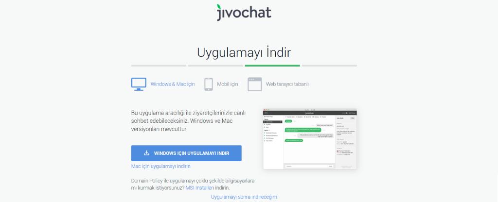 Jivochat uygulamasını indirin