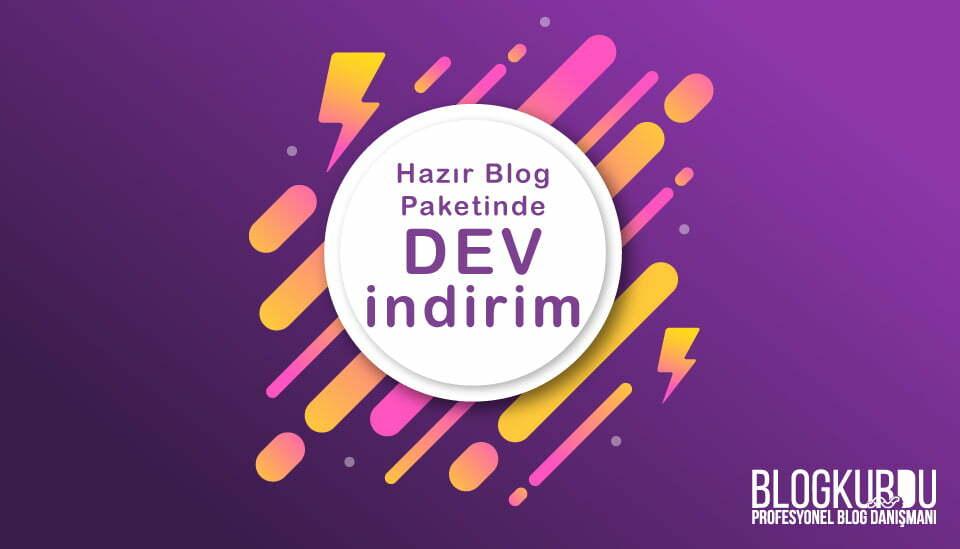Hazır blog açma paketi