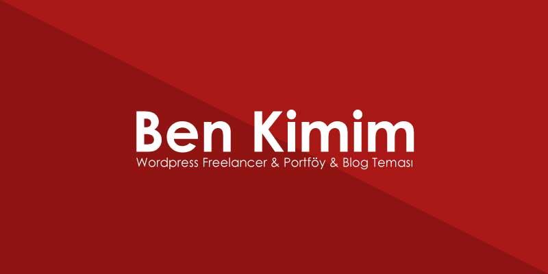 Ben Kimim Wordpress Freelancer Teması Porföy Teması Blog Teması